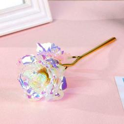 24K Gold Foil Rose Flower LED Luminous Galaxy Christmas Valentine/'s Gifts GFDay